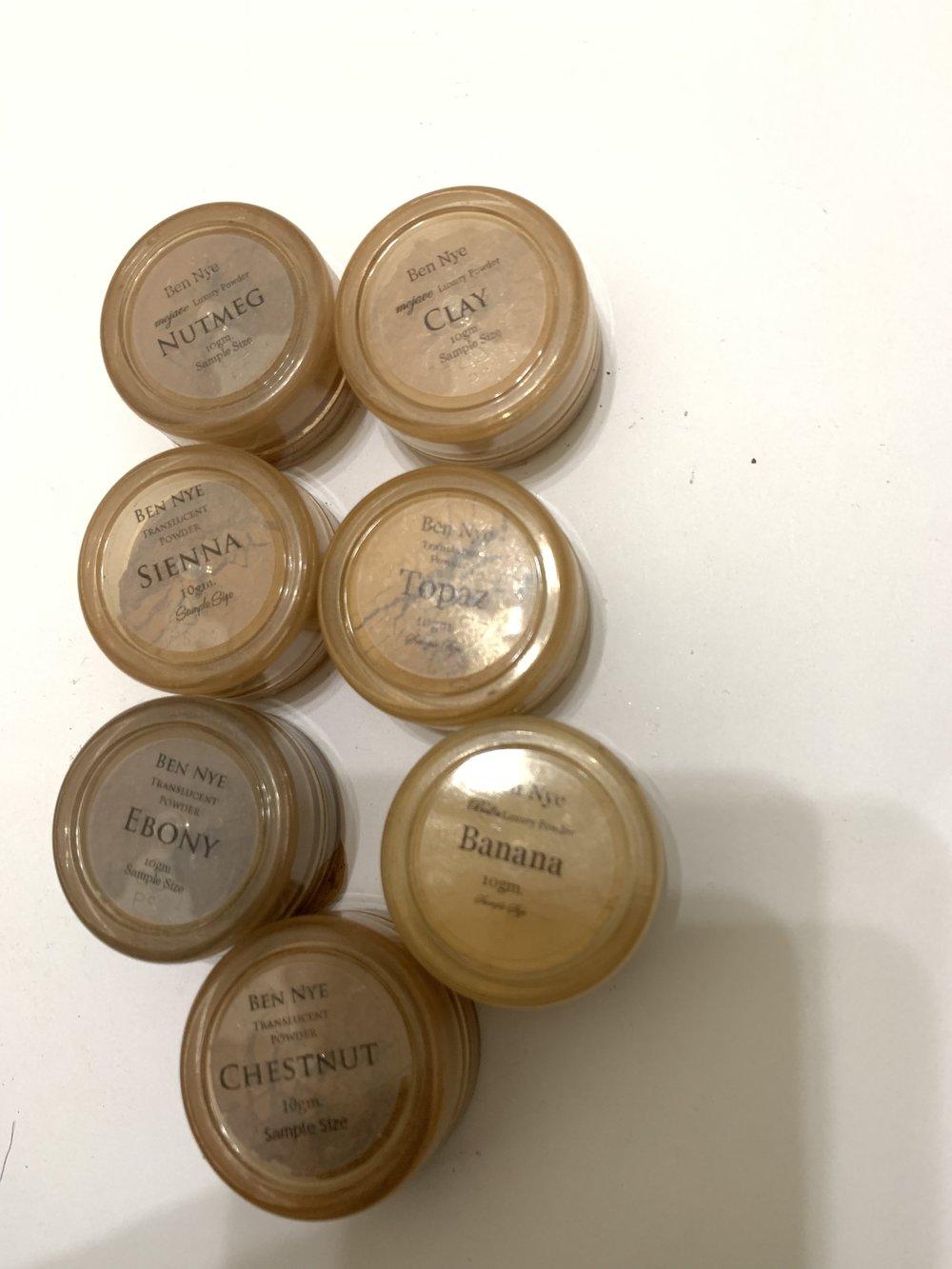 30g Samples of Ben Nye Luxury Powder-gently used-$8
