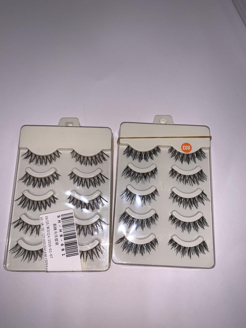 Bulk wispy lashes-packs-$5