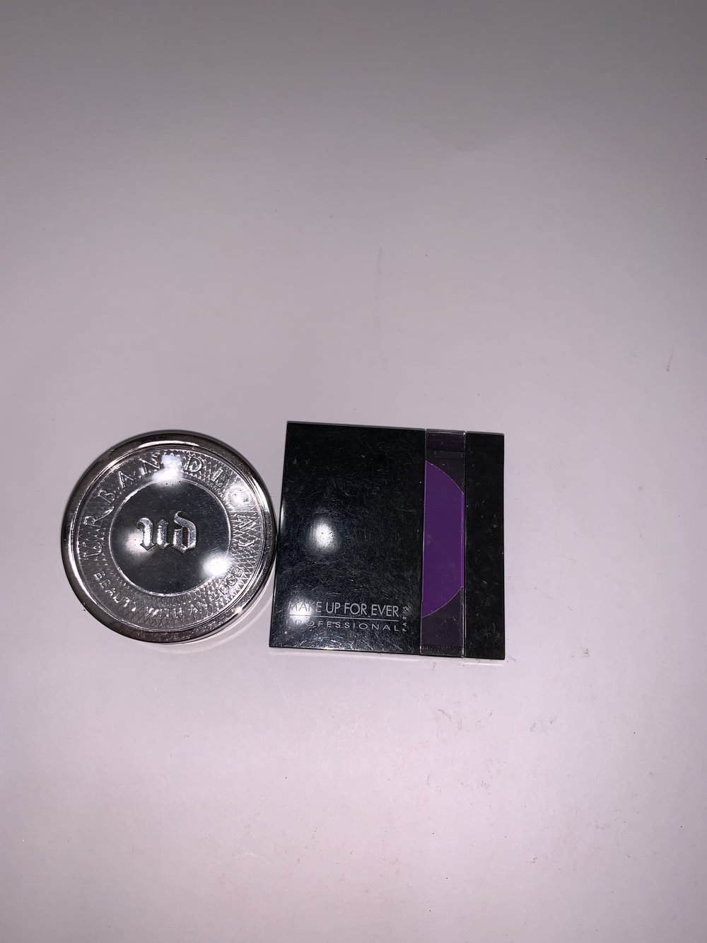 urban decay blackout and MUFE Purple-$15