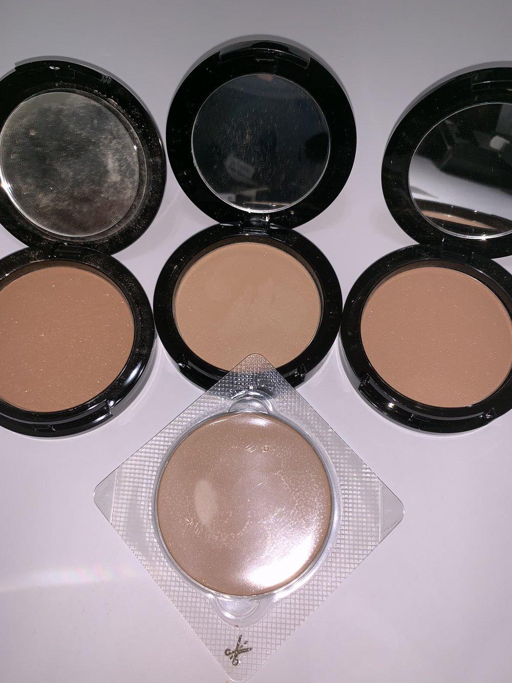 inglot53,54,56 and 18 pressed powder$25