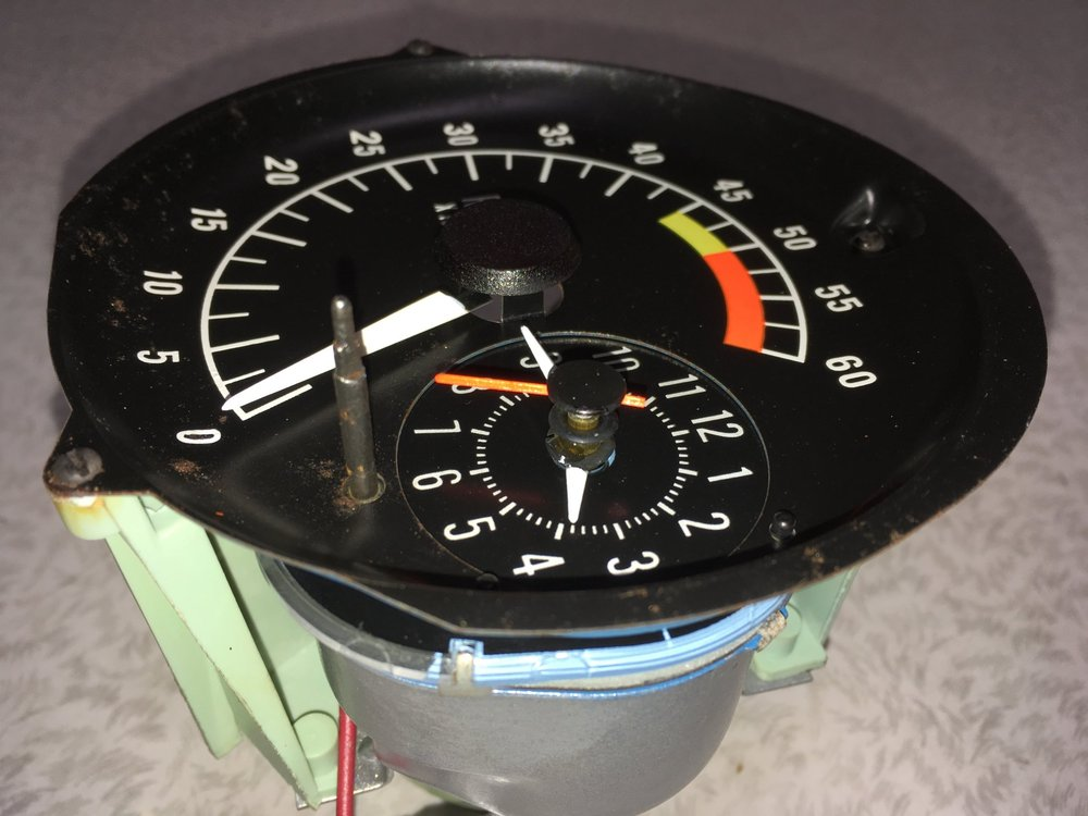 Tachometer during restoration