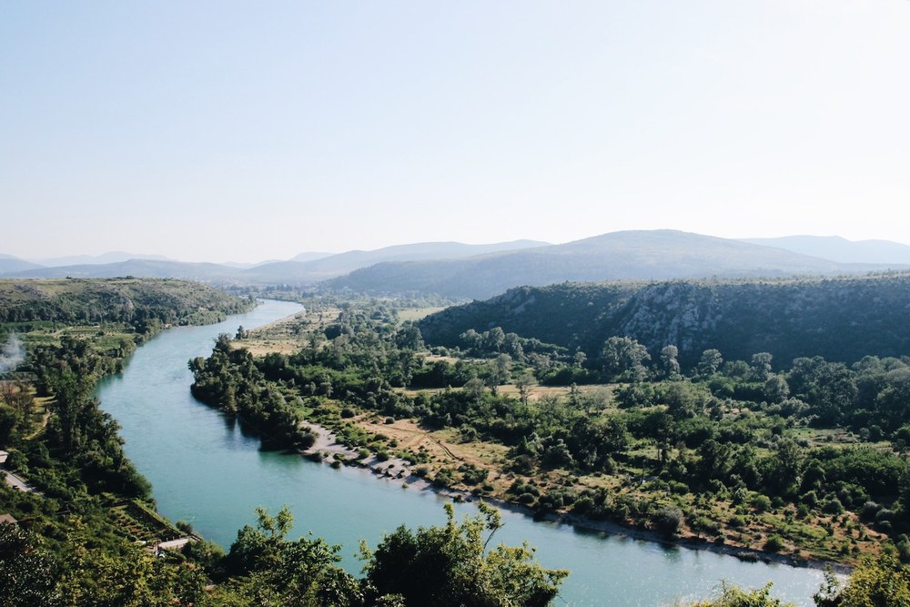 A view of the River Neretva from Pocitelj, Bosnia.
