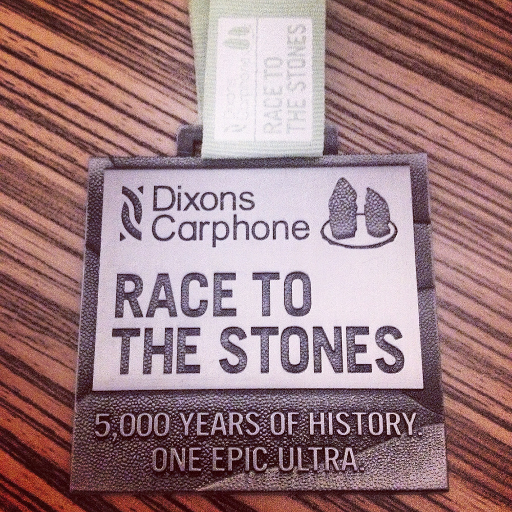 The Race To The Stones 2015 Medal.