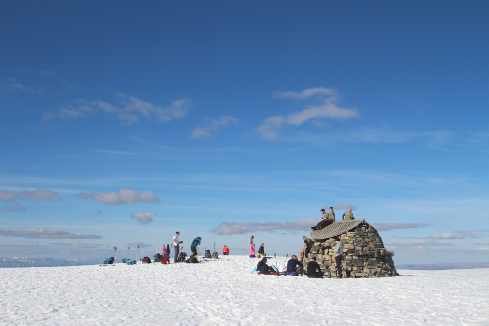 "The top of Ben Nevis with the legions of tourists coming up the ""easy way""."