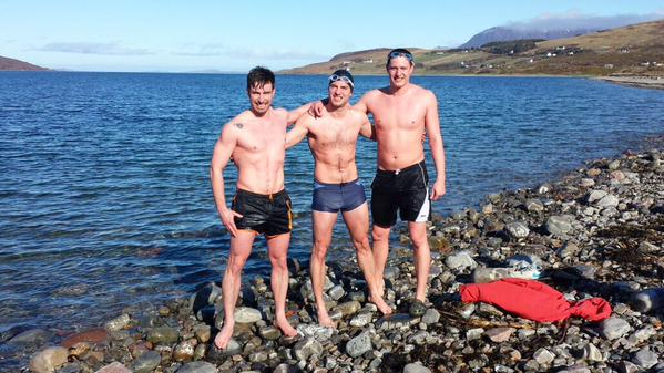 Training for the swim in Ullapool, Scotland