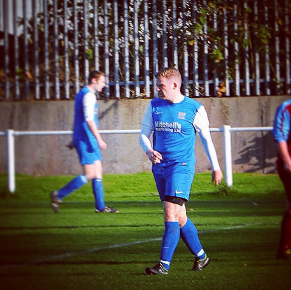 One of my last appearances in a footy kit!
