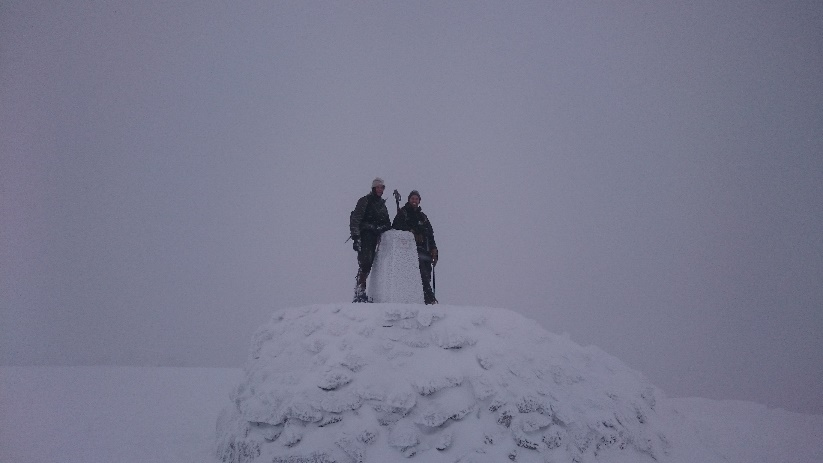 Ben Nevis summit, with my Dad