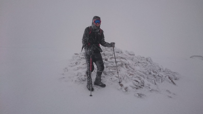 My brother Alex at the summit of Braeriach