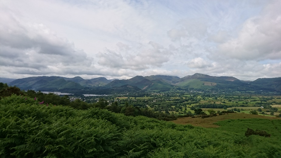Heading down into Keswick from Skiddaw