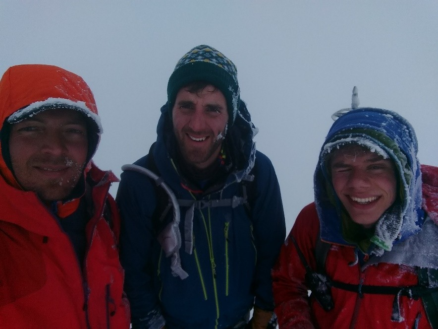 Summit Selfie, courtesy of Dieter of Icelandic Mountain Guides.