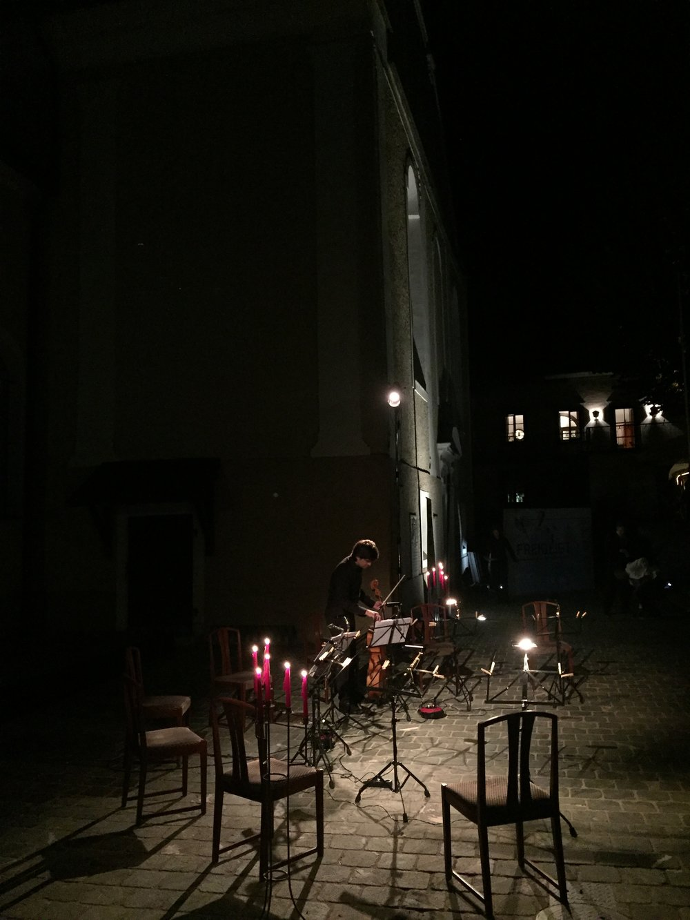 Cello Octett in candle light!