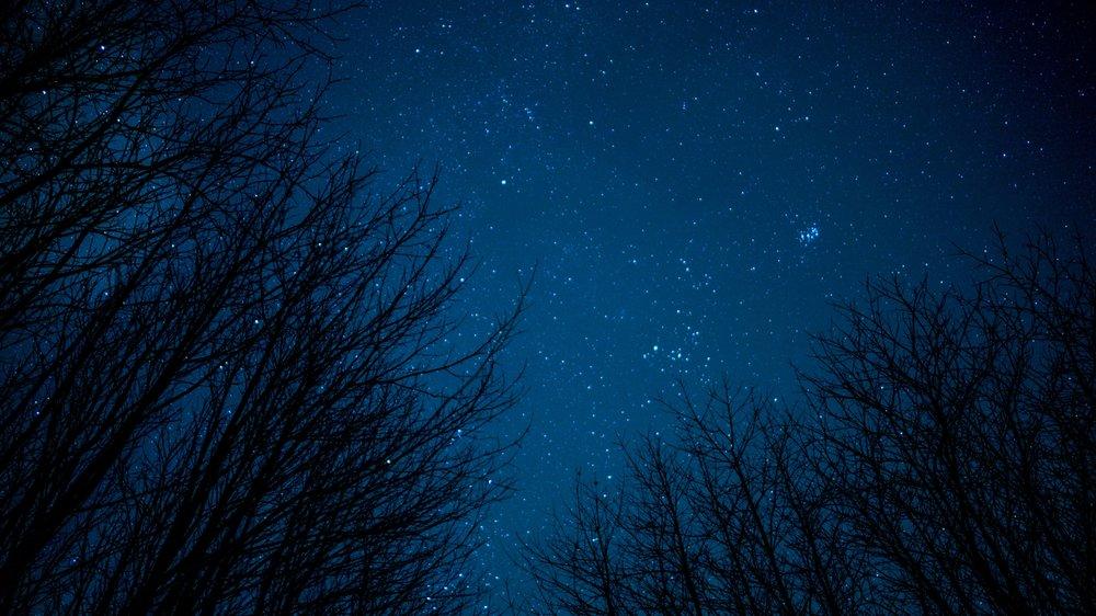 Blue Night Sky