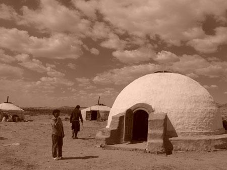 Abari - Adobe Yurt in Mongolia                                           Nripal Adhikary