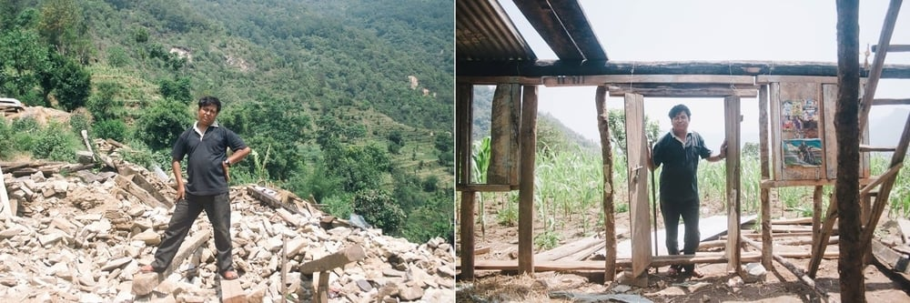 Thulo Kancha Sunwar-34, a farmer from Chittre, Ki-Wool - 5, Sindhupalchowk is rebuilding his house by implementing techniques  learned from the model transitional shelter.       Normal   0           false   false   false     EN-US   X-NONE   NE