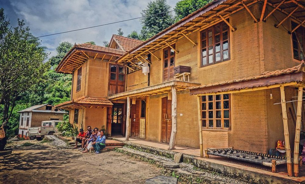 Dhulikhel Learning Centre - In the temperate hills of Dhulikhel, we have established a learning centre using traditional building techniques like rammed earth and bamboo, where we host ,train and have creative workshops.