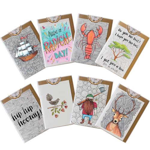 Pack of 8 any occasion greeting cards little difference uk m4hsunfo