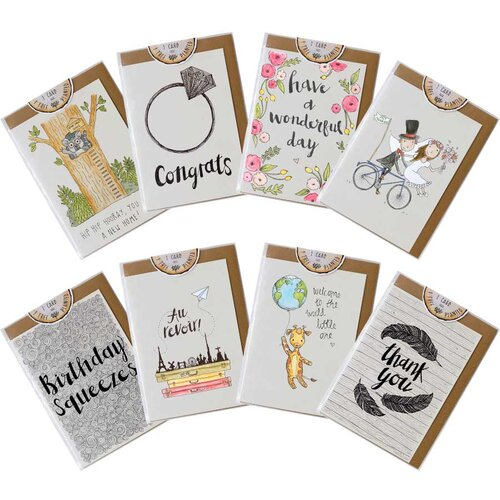 Multi packs little difference uk pack of 8 mixed occasion greeting cards bookmarktalkfo Images