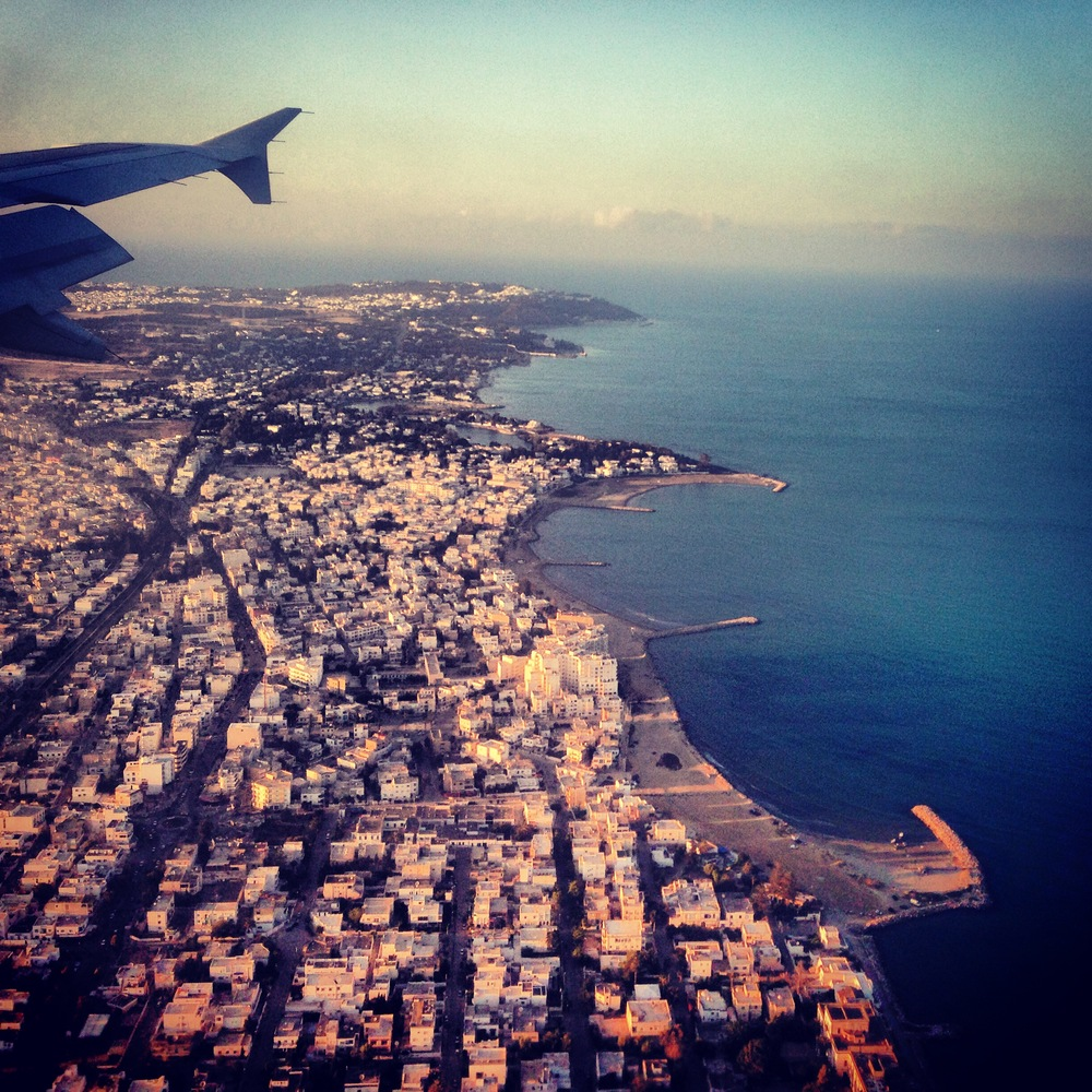 Aerial view of Tunis