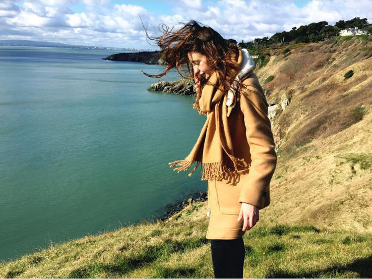 8. @alinamihaita along the Howth Cliffs