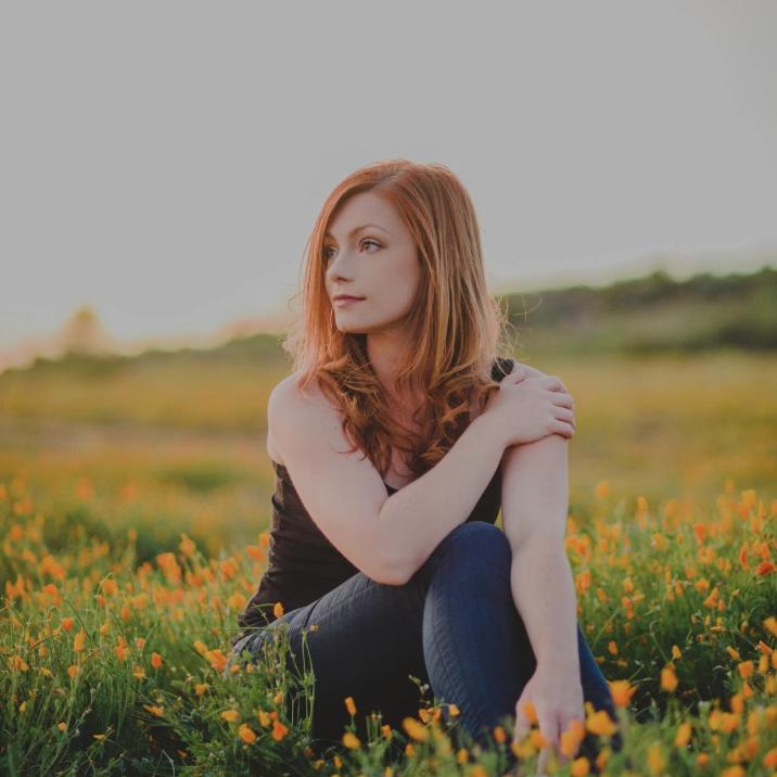 @larissa.manibog.photography photo of @paula_bradfield in California wildflower fields