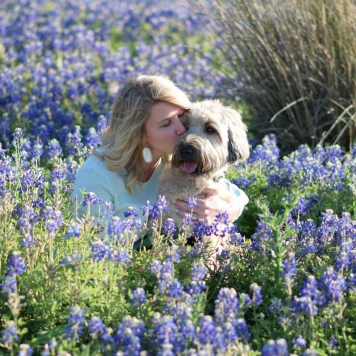 @brookehhamilton in bluebonnets field, Wheaten, Texas