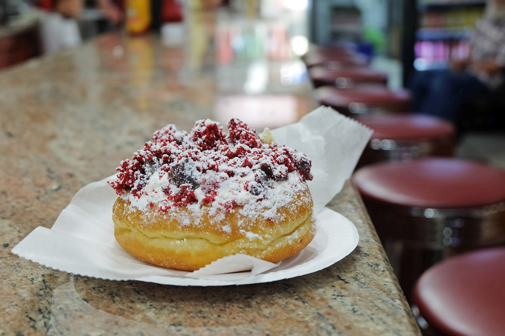 4. Moe's: Greenpoint, Brooklyn is known for Peter Pan Donuts but the lesser known and less crowded spot is Moe's with flavors like salted caramel and red velvet!