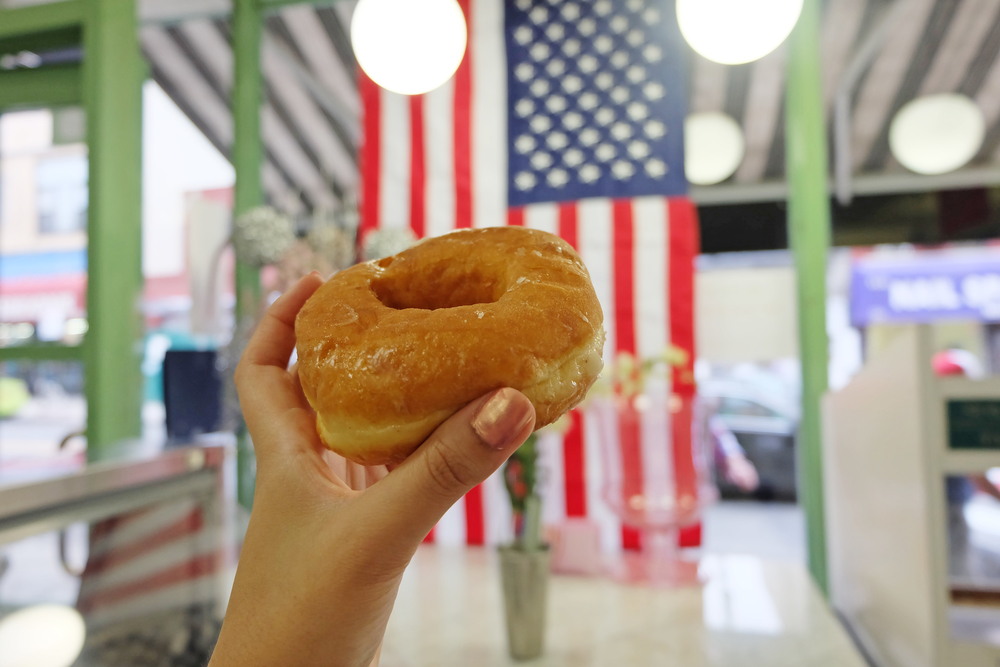 5. Peter Pan: But Peter Pan Donuts and Pastry Shop is a classic with mint green walls, started in the 50s! Try the classic glazed.