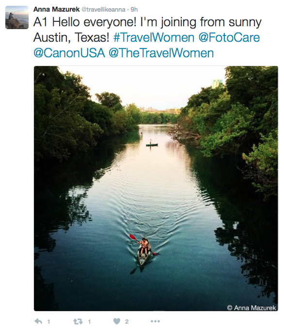 Twitter Chat Canon FotoCare The Travel Women Social Media Influencers