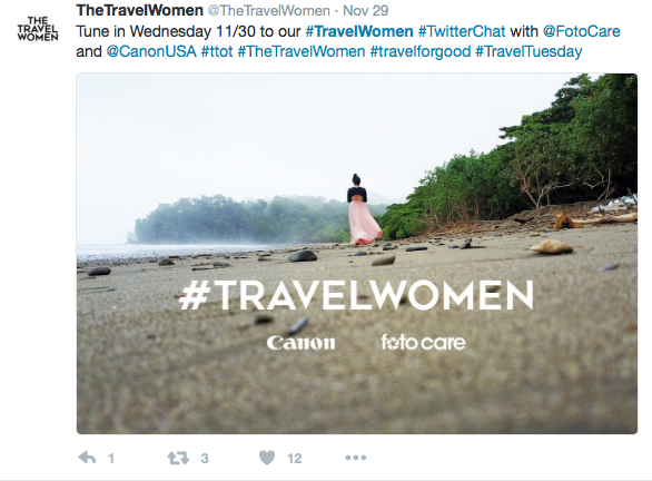 Travel Women Twitter Chat Canon FotoCare Social Media Influencers