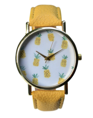 Pineapple Holiday Christmas Gift Guide The Travel Women Yellow Watch