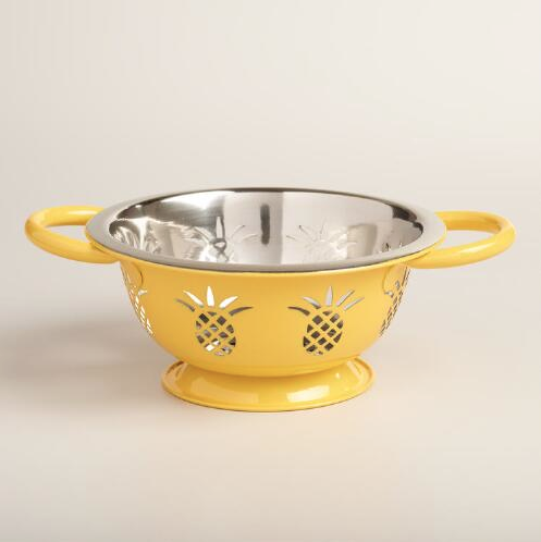 Pineapple Holiday Christmas Gift Guide The Travel Women Steel Yellow Collander