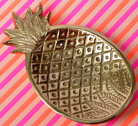 Pineapple Holiday Christmas Gift Guide The Travel Women Gold coin jewelry dish