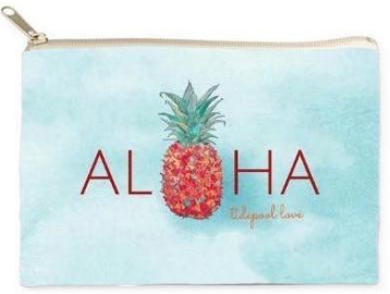 Pineapple Holiday Christmas Gift Guide The Travel Women  Watercolor Cosmetic Clutch