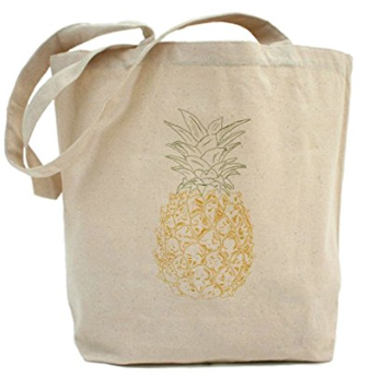 Pineapple Holiday Christmas Gift Guide The Travel Women Canvas Tote Bag