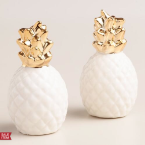 Pineapple Holiday Christmas Gift Guide The Travel Women Salt and Pepper Shakers
