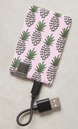 Pineapple Holiday Christmas Gift Guide The Travel Women thin phone charger portable