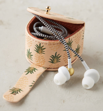 Pineapple Holiday Christmas Gift Guide The Travel Women  earbud holder