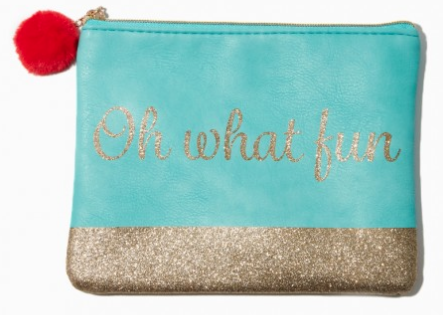 Best Holiday Gifts for Women who love travel Charming Charlie Oh what fun pouch