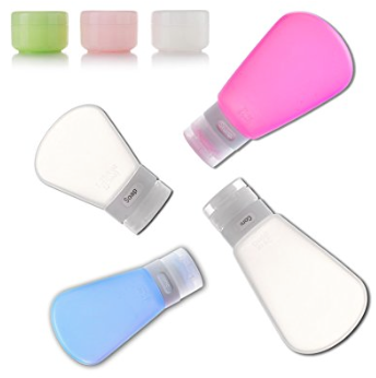 Best Holiday Gifts for Women who love travel Alink Silicone Travel Size bottles