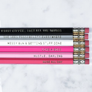 The Best Last Minute Holiday Gifts for Women Who Love Travel Motivational Pencil Set