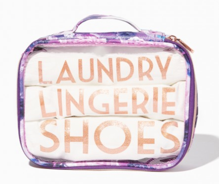 The Best Last Minute Holiday Gifts for Women Who Love Travel Floral Laundry Day Bag Set
