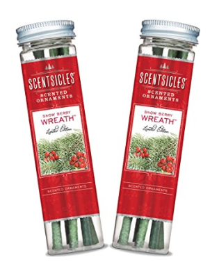 The Best Last Minute Holiday Gifts for Women Who Love Travel Sentsicles, Snow Berry Wreath Scented Ornament Sticks