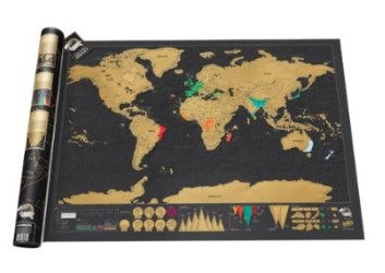 The Best Last Minute Holiday Gifts for Women Who Love Travel scratch map by luckies of London