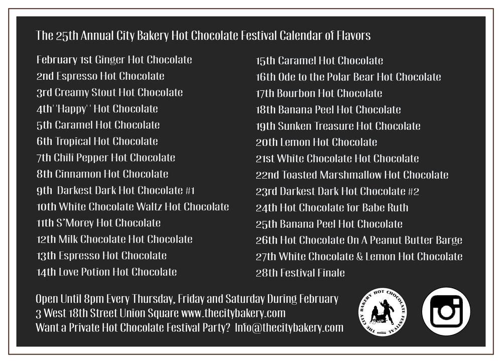 City Bakery Hot Chocolate Festival