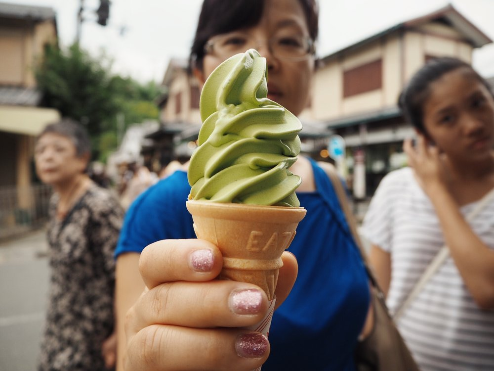 Green tea ice cream Travel Women Guide to Tokyo