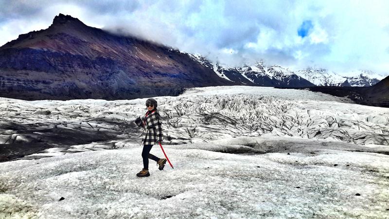 Hiking Vatnajökull glacier where Interstellar was filmed