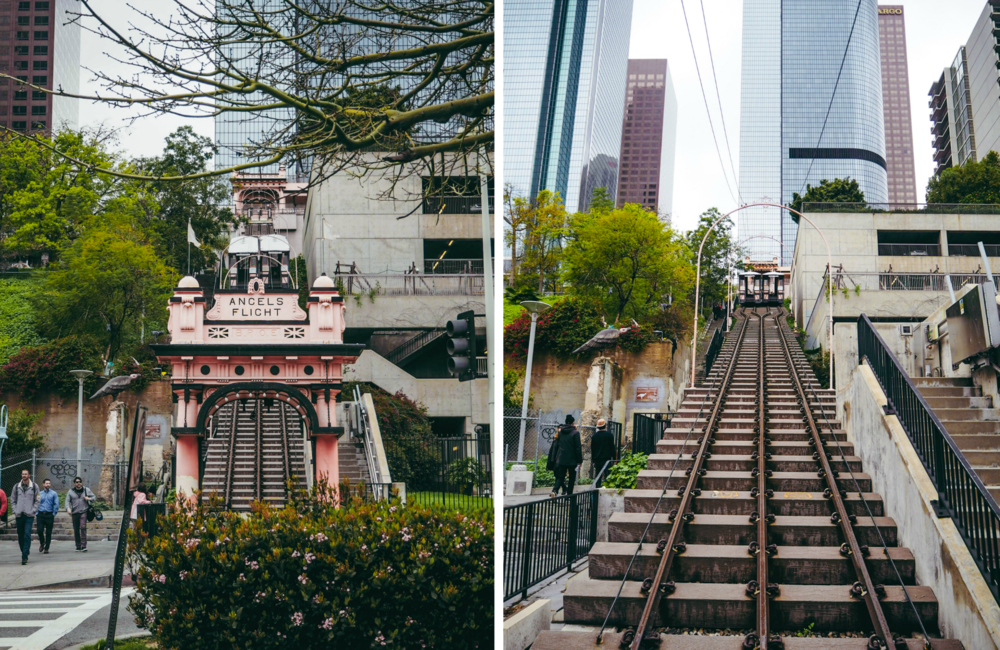 Angel's Flight Top 11 things to do in Downtown Los Angeles LA Claire Travel Women