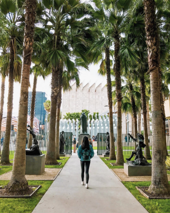 Urban Light installation LACMA Top 11 things to do in Downtown Los Angeles LA Claire Travel Women