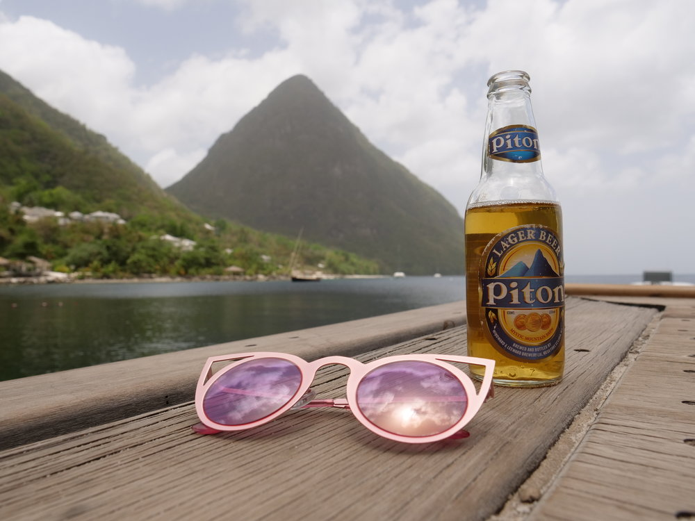 Real St Lucia Tours The Travel Women Piton beer
