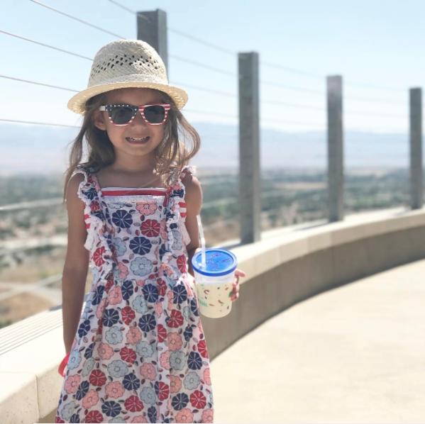 """I asked #littlegirltravelsworldwhat freedom means to her and she said """"freedom means no one can tell you you can't be silly."""" @littlegirltravelsworld(Rancho Mirage)"""
